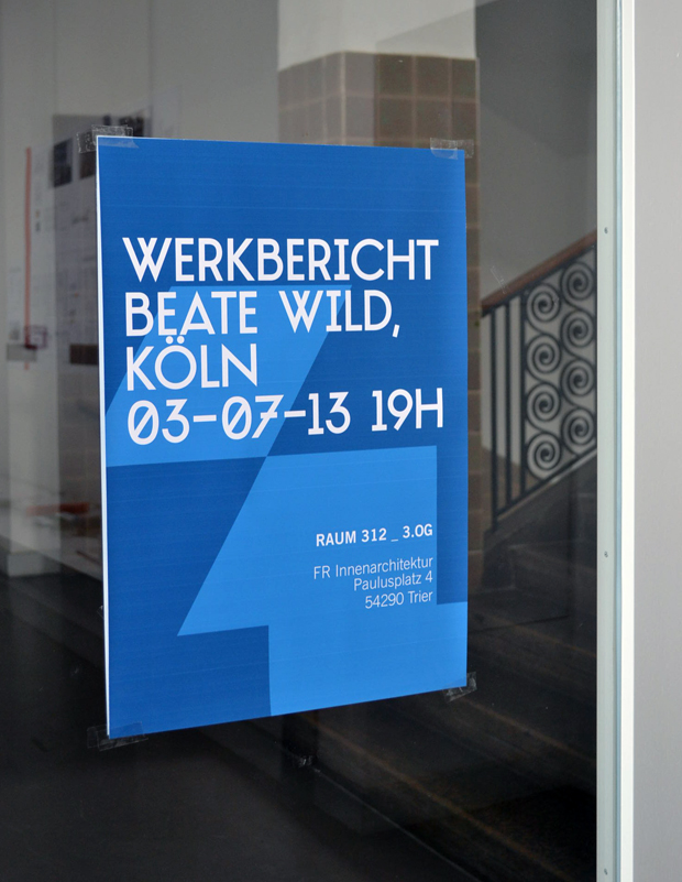Werkbericht beate wild innenarchitektur k ln for Innenarchitektur trier
